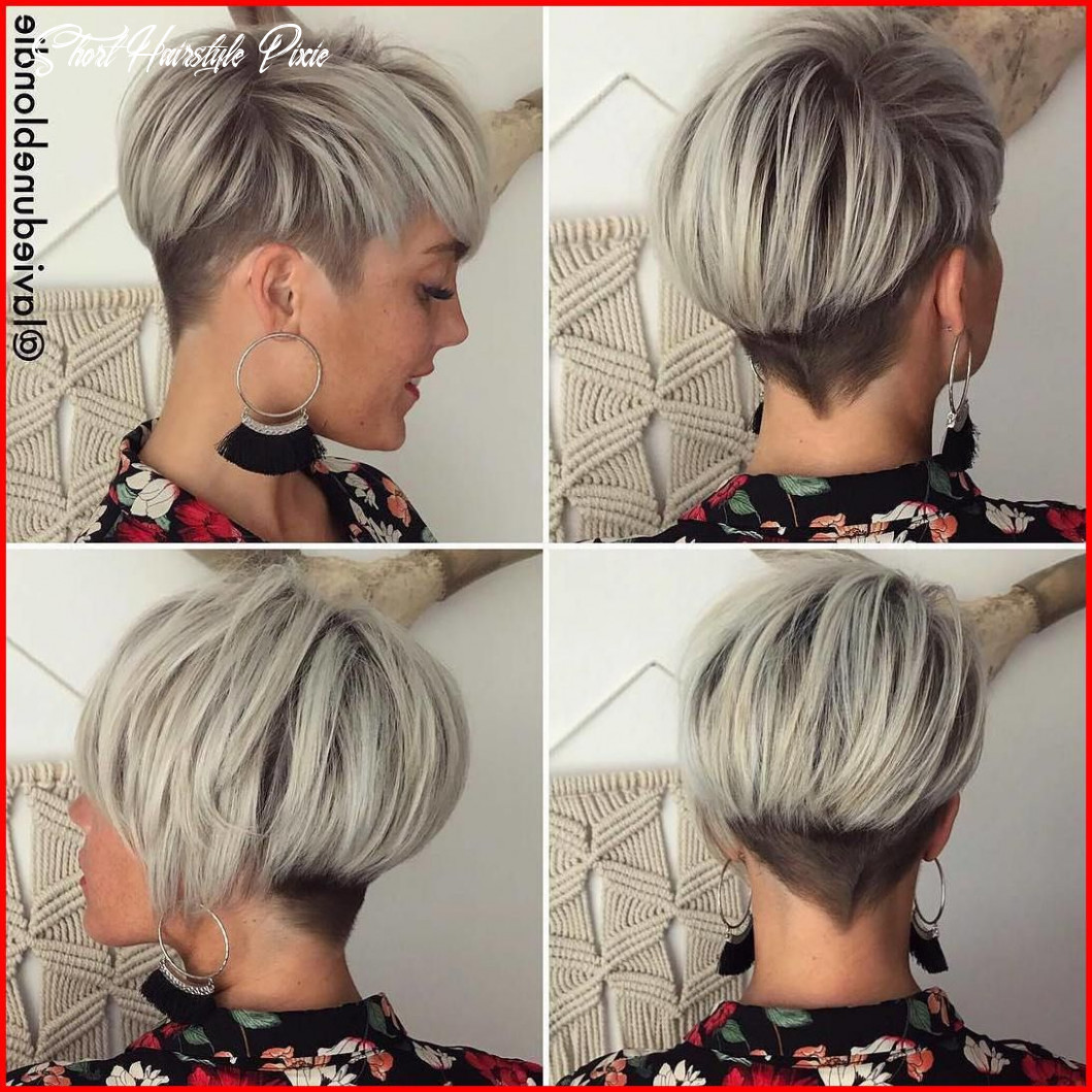 Light Ash Blonde Short Hairstyles | Longer pixie haircut, Thick ...