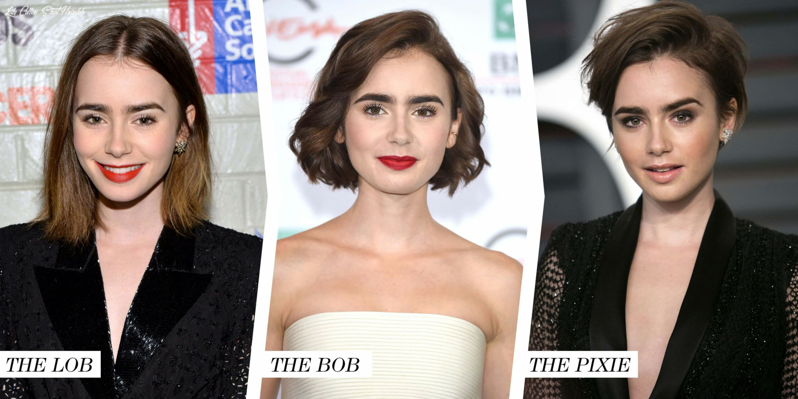 Lily collins hairstyle to get inspired from | fashionterest lily collins short hairstyle