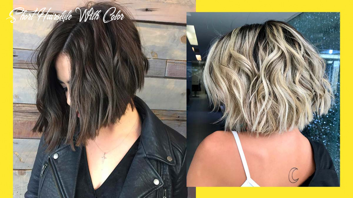List: hair color ideas for short hair short hairstyle with color