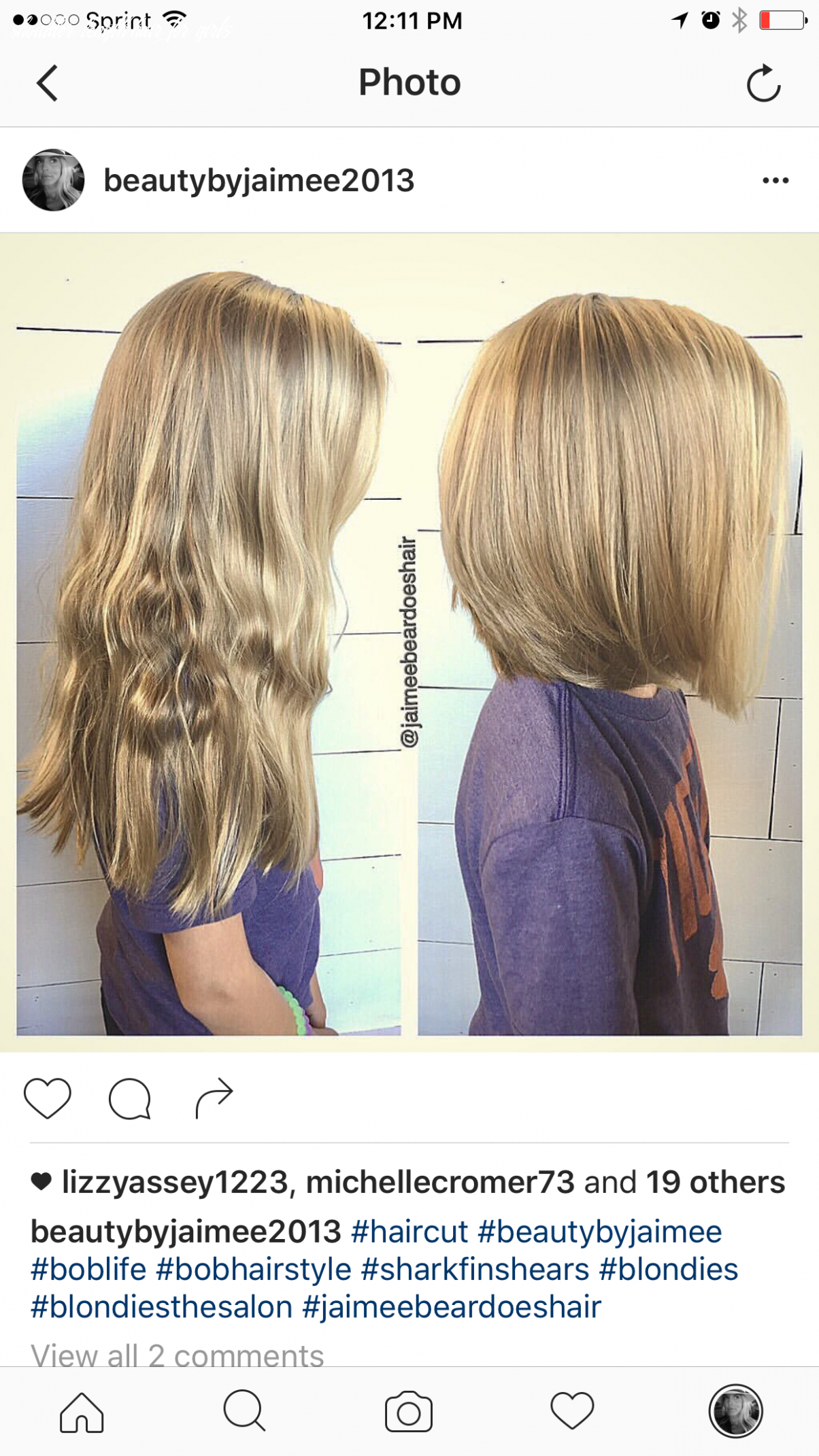 Little girls haircut from long locks to shoulder length bob (mit