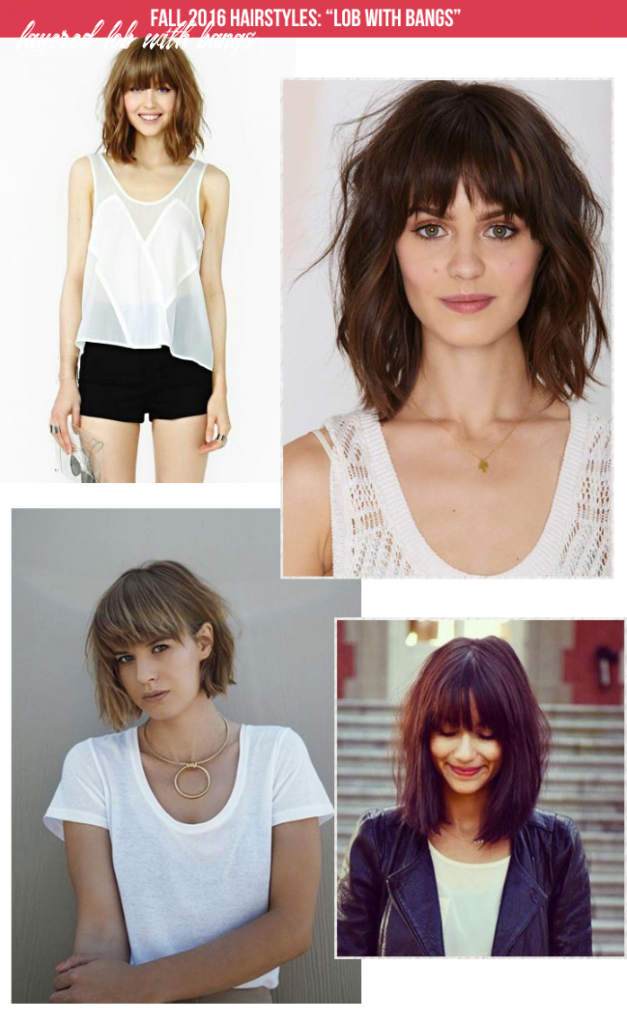 Lob with bangs: fall 11 hairstyle the mombot layered lob with bangs