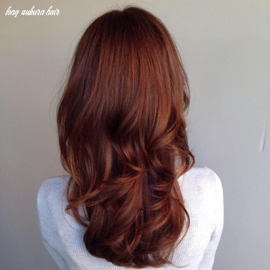 Long auburn hair with gentle layers | coiffure couleur, couleur