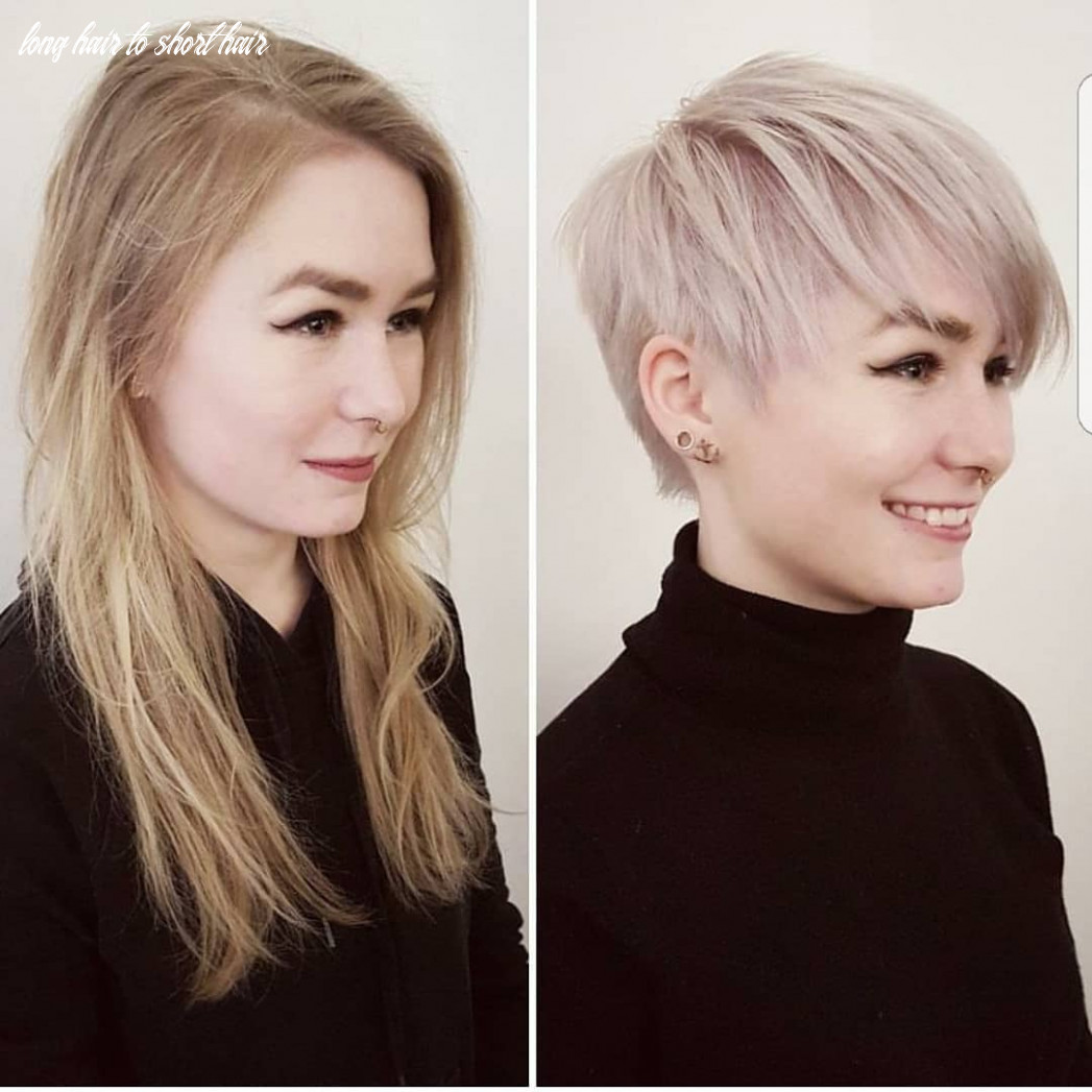 Long hair to short hair before and after imgur long hair to short hair