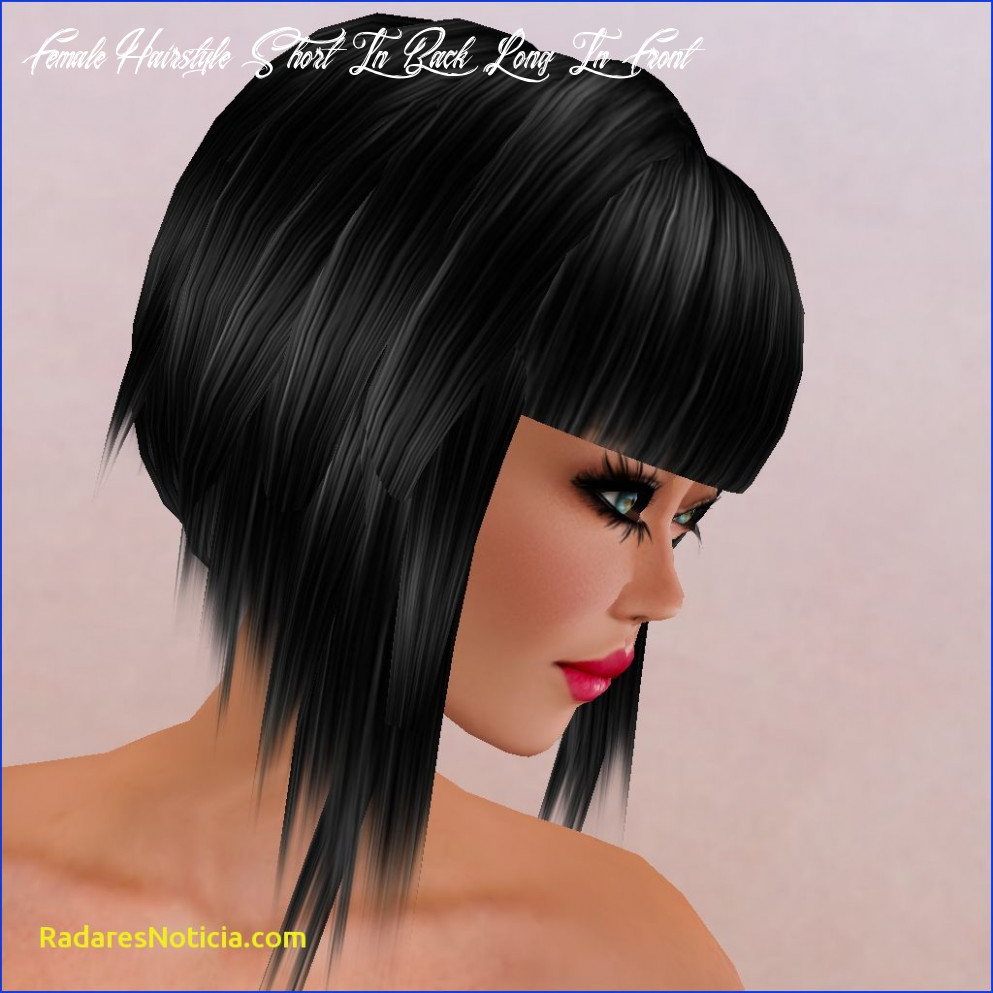 Long in front short in back hairstyle   find your perfect hair style female hairstyle short in back long in front