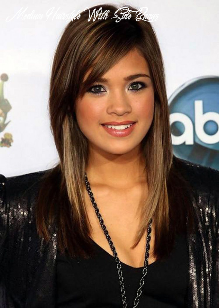 Long layered hairstyles with side swept bangs | 11 medium