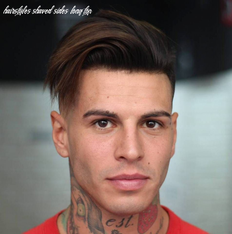 Long top shaved sides hairstyle for men   mens hairstyles medium