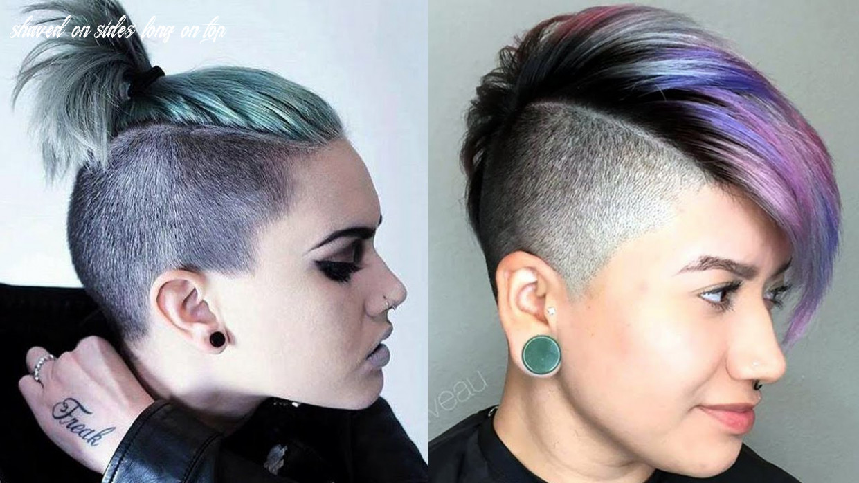 Long top short sides haircut women / extreme short hair cut for women shaved on sides long on top
