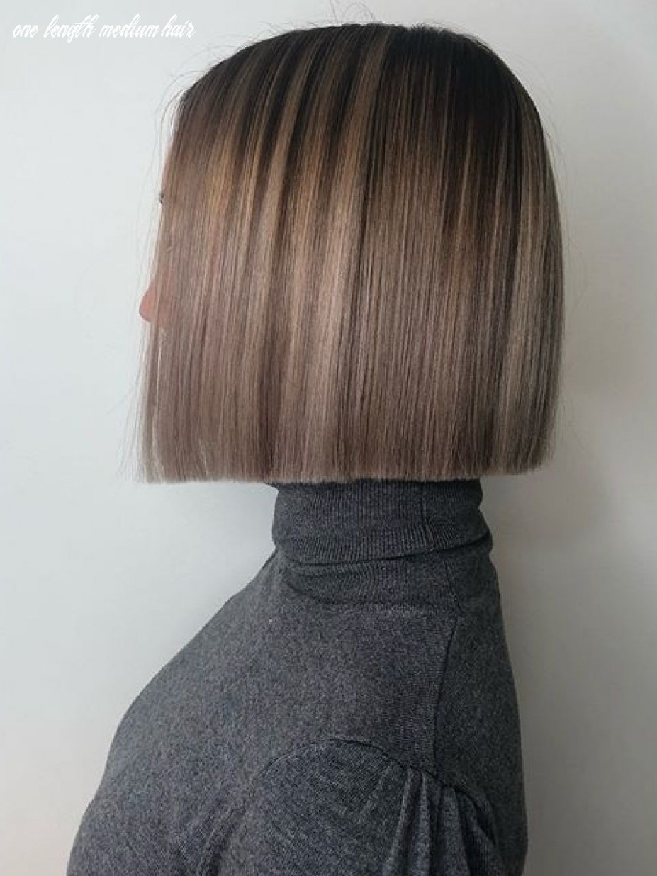 Love this color | one length haircuts, one length hair, hair styles one length medium hair
