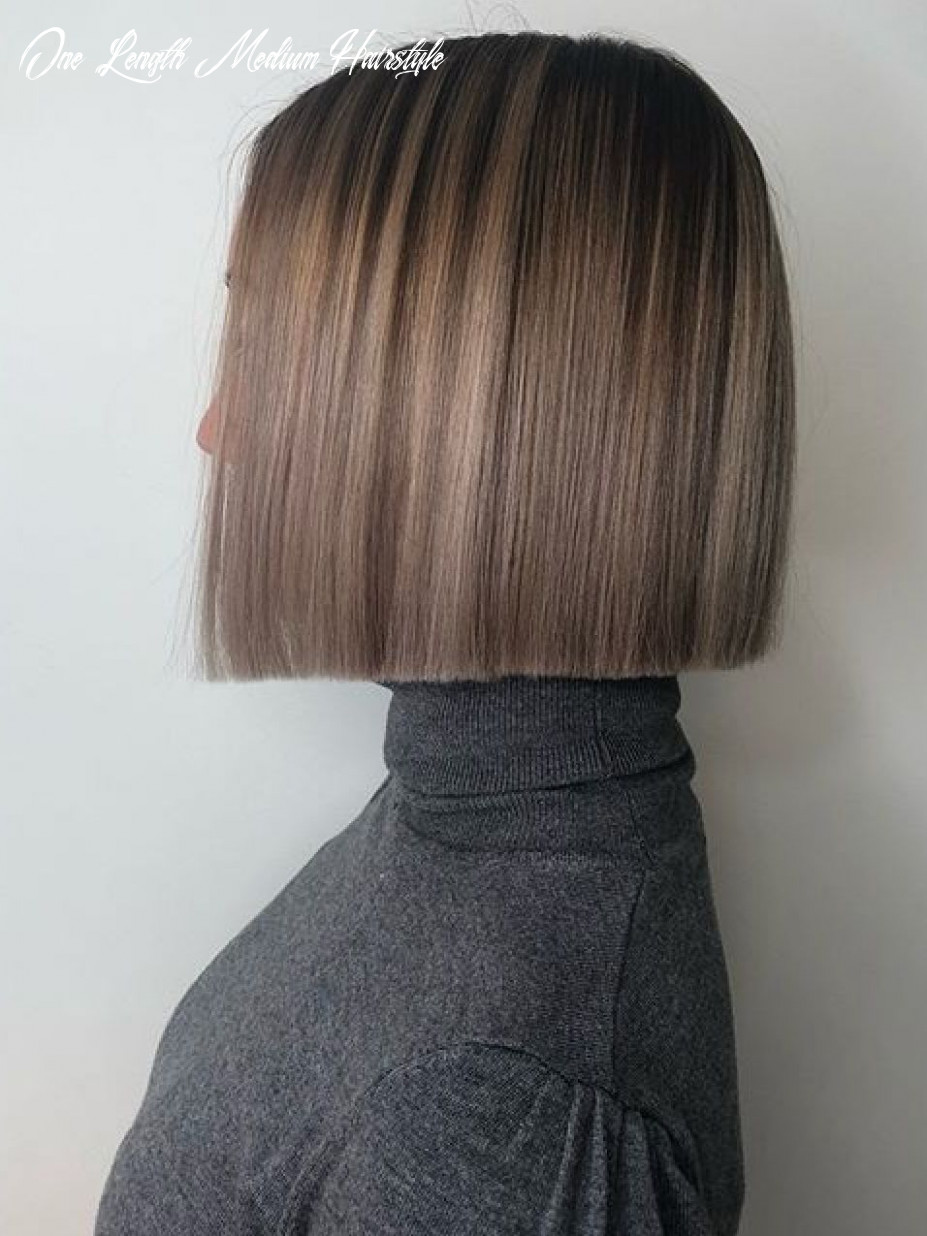 Love this color   one length haircuts, one length hair, hair styles one length medium hairstyle