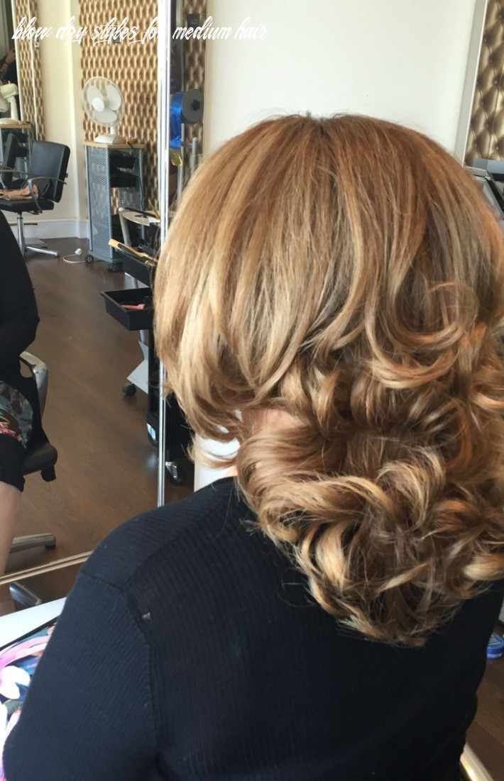 Lovely bouncy blow dry by myself at eye candy today (with images
