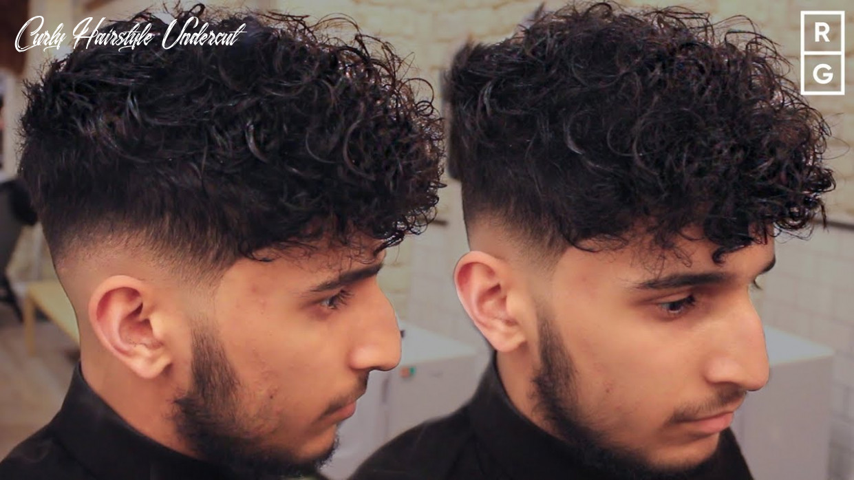 Low skin fade curly haircut for men with disconnected undercut 🔊clipper noise no music 🔊 curly hairstyle undercut