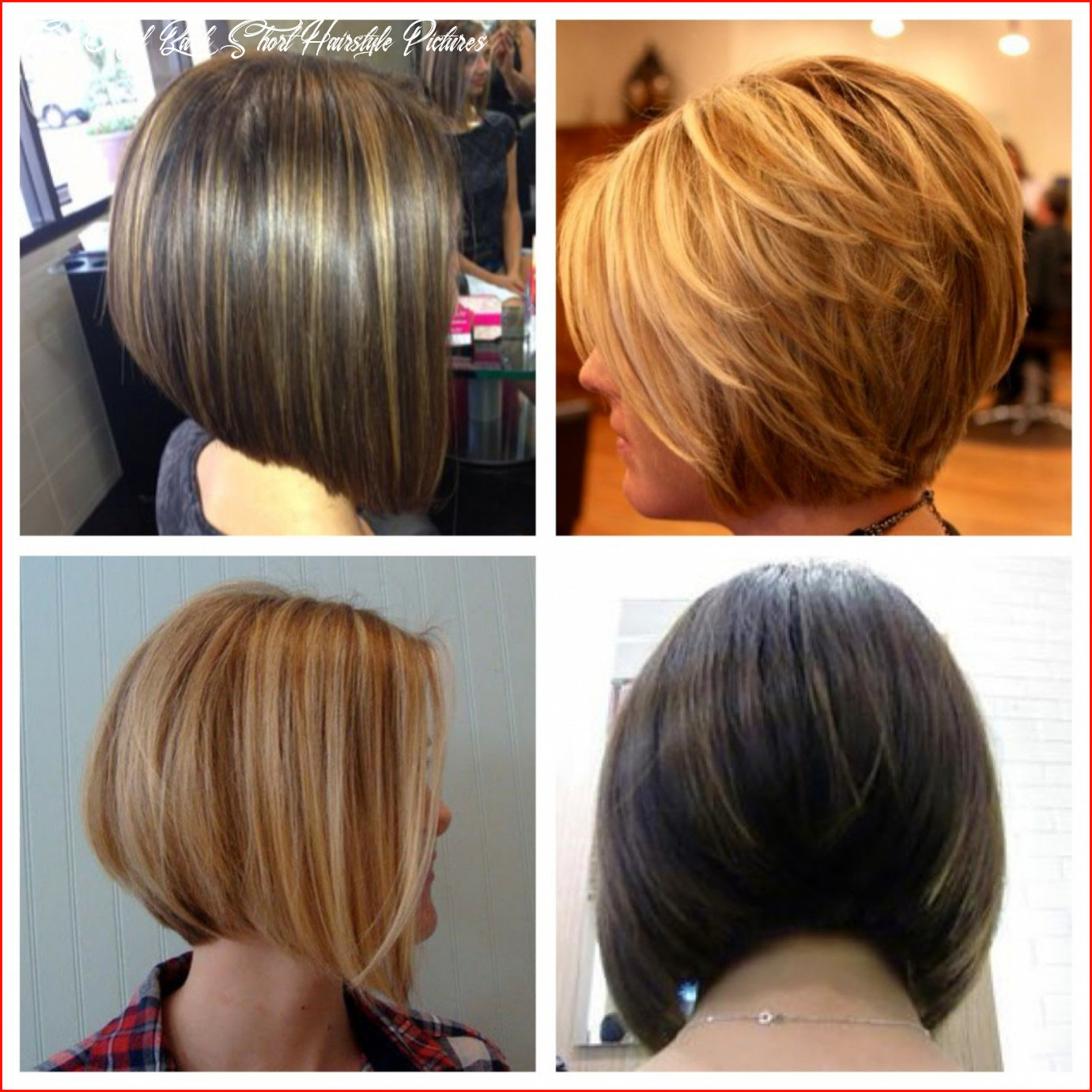 Luxury front and back pictures of short hairstyles collection of