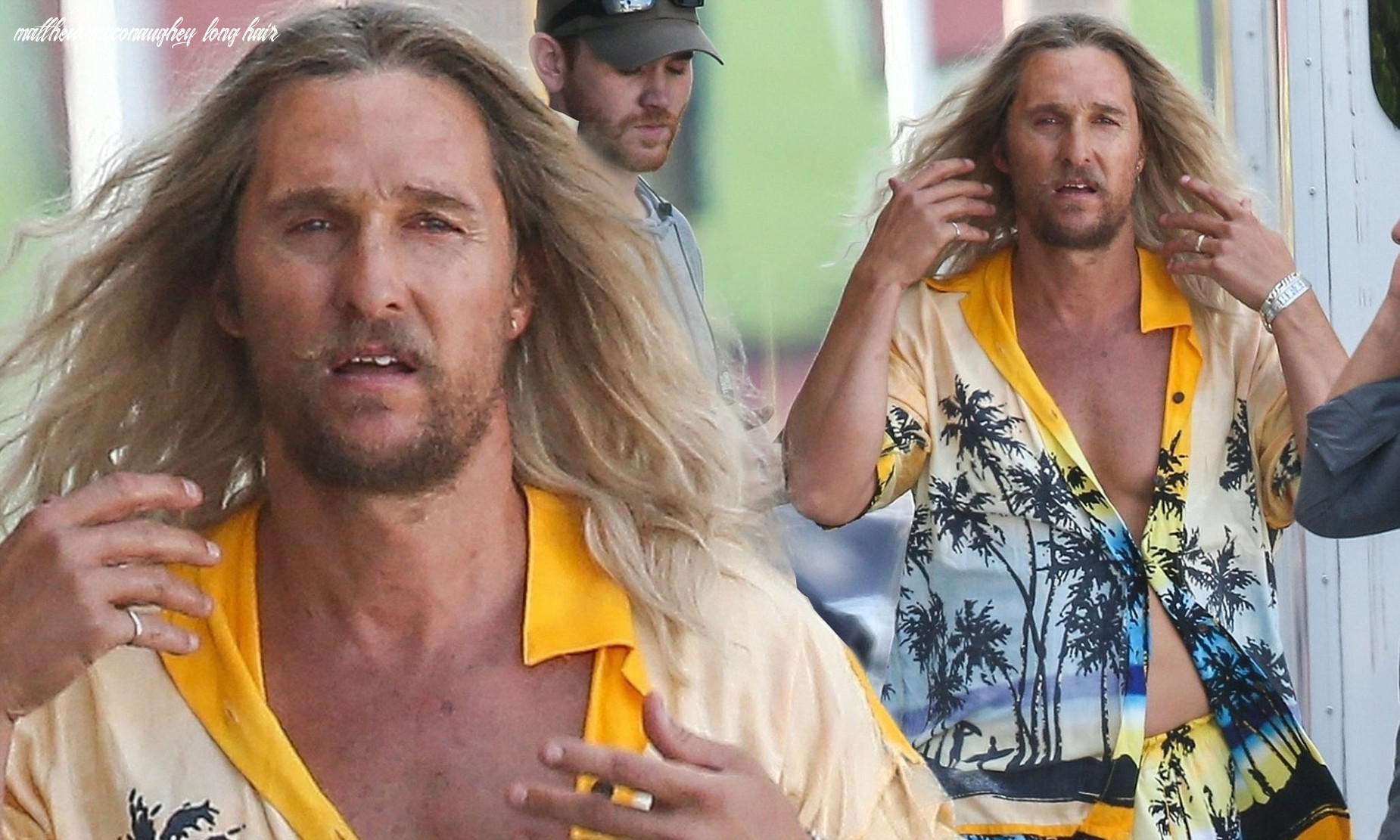 Matthew mcconaughey wears blonde wig filming in miami | daily mail