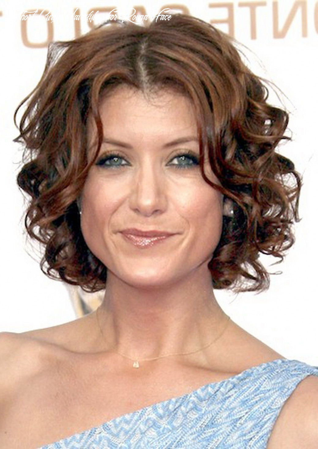 Medium curly hairstyles for round faces curly short hair round