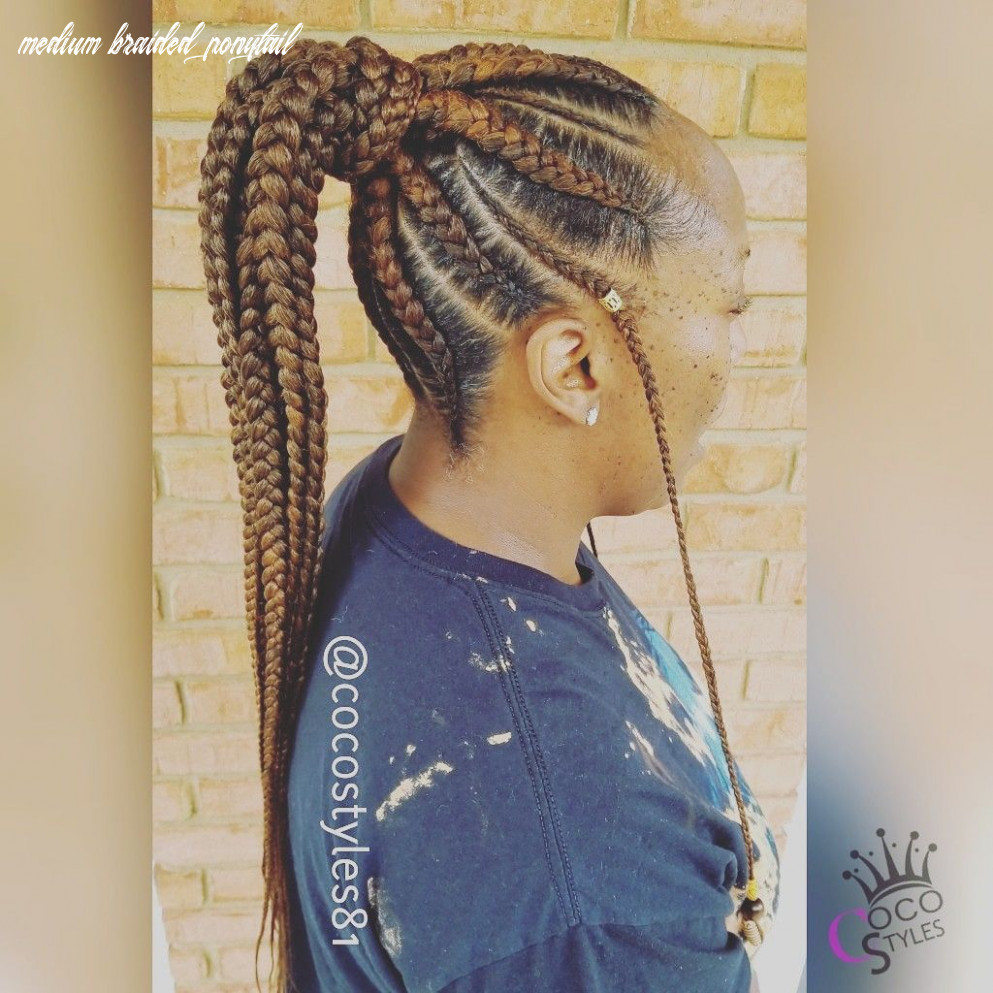 Medium feed in ponytail book under: feed in box braid combo