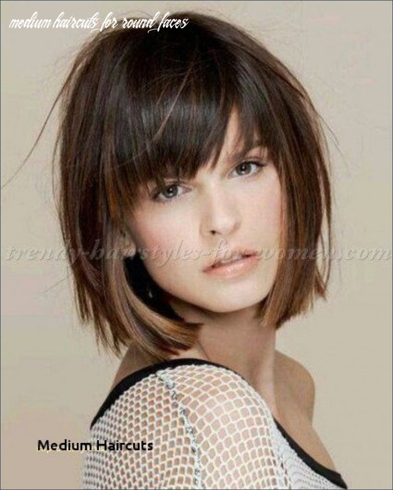 Medium haircuts for round faces unique medium length hairstyles