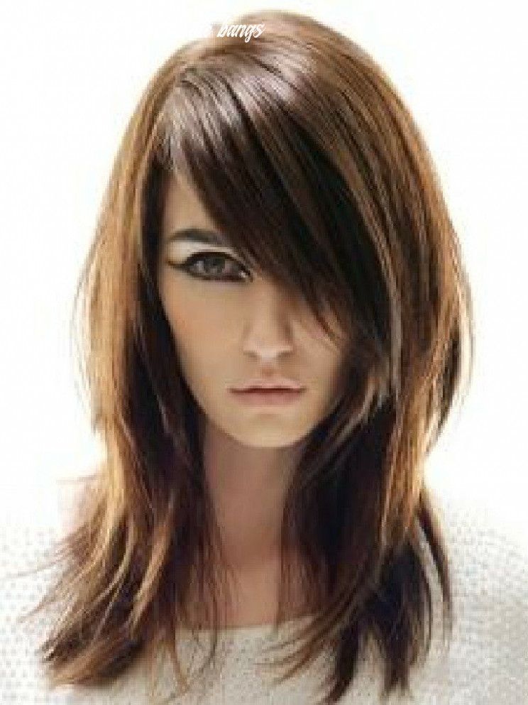 Medium length hair with side fringe | find your perfect hair style shoulder length with side bangs