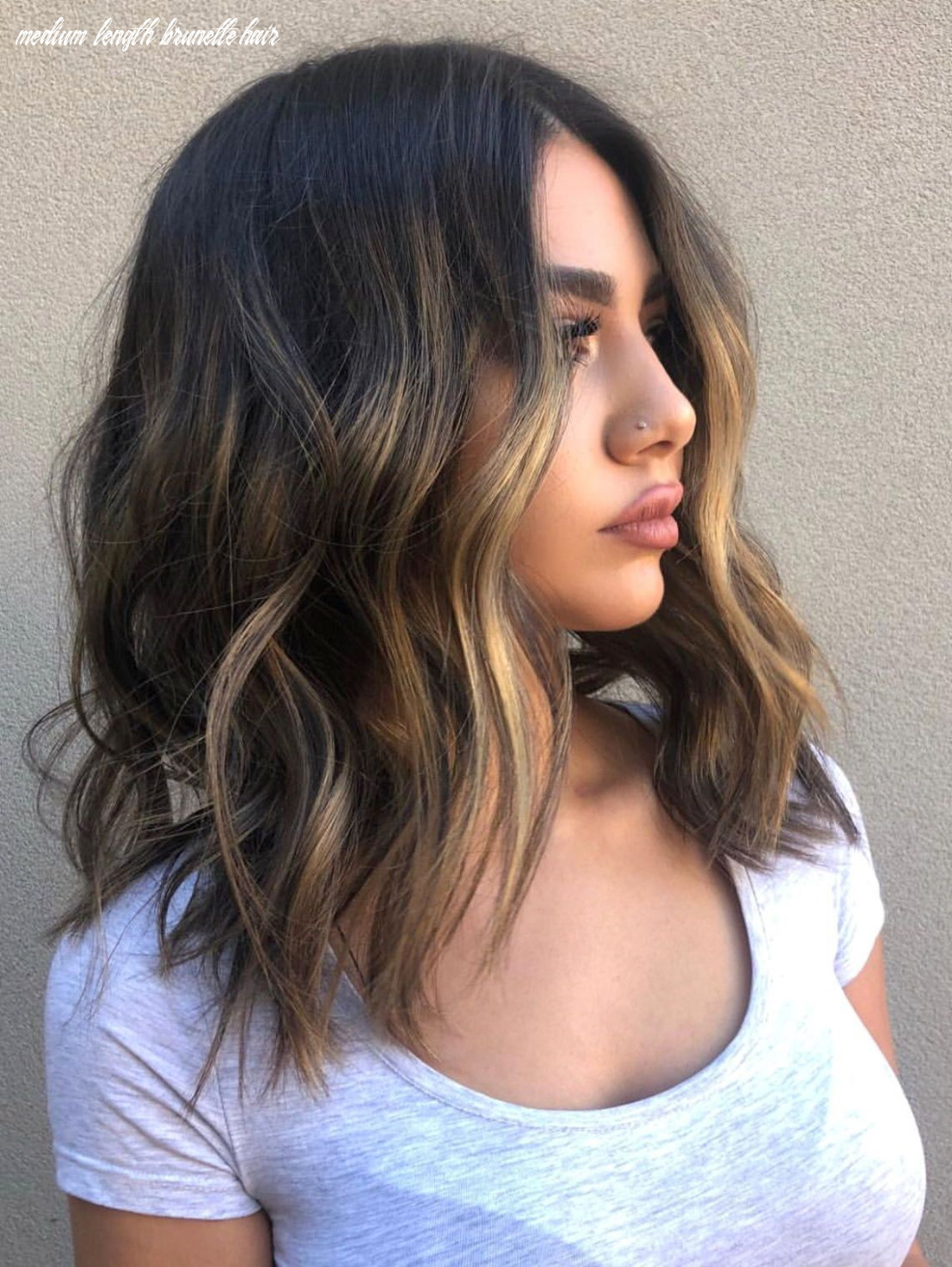 Medium length hair with waves and texture #hairstyles | frisuren