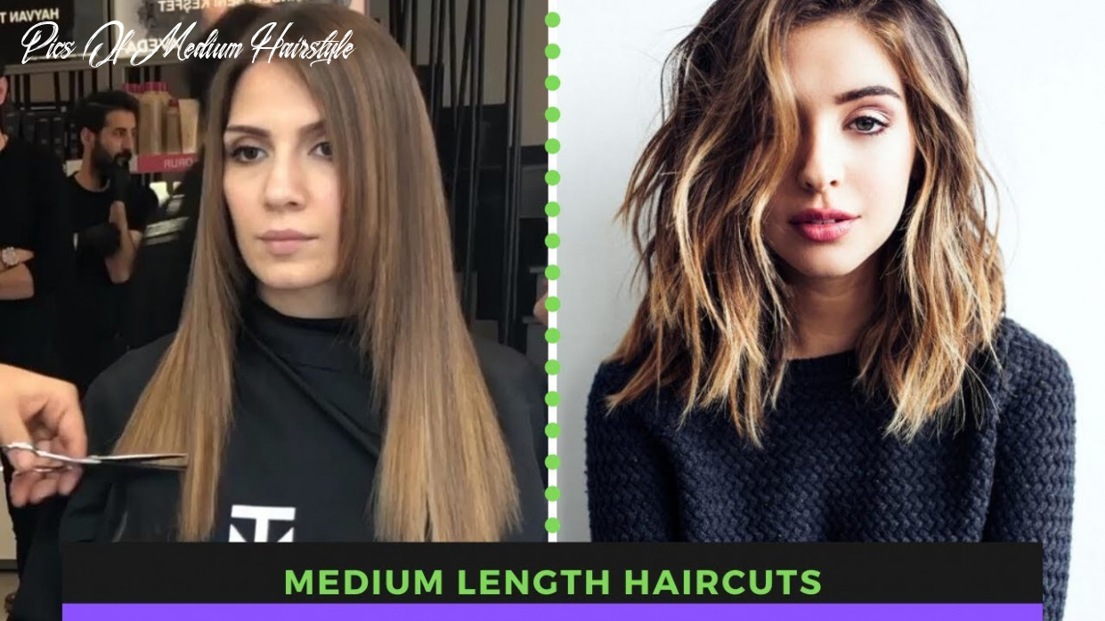 Medium length haircuts | shoulder length haircuts (amazing hair transformations by professionals) pics of medium hairstyle