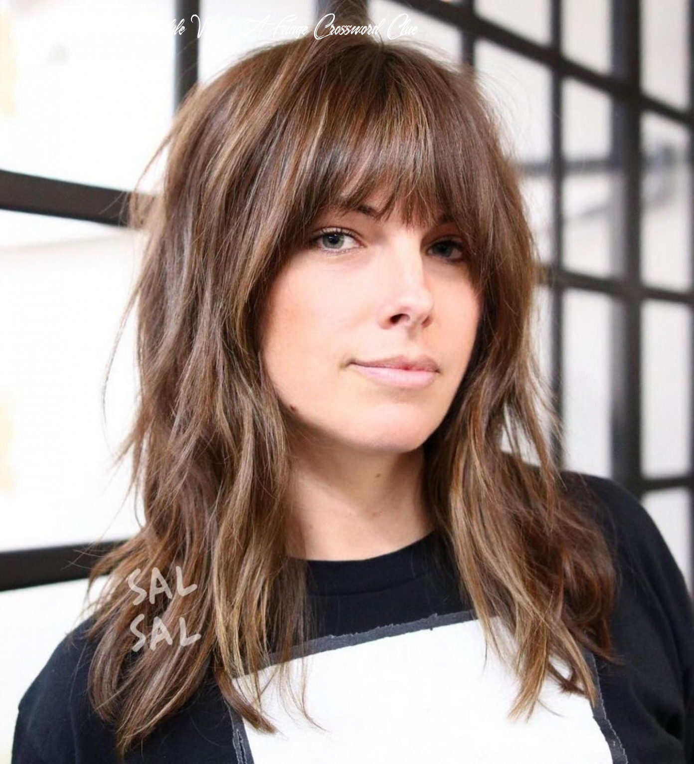 Medium length hairstyle bangs medium length hairstyle with a fringe crossword clue