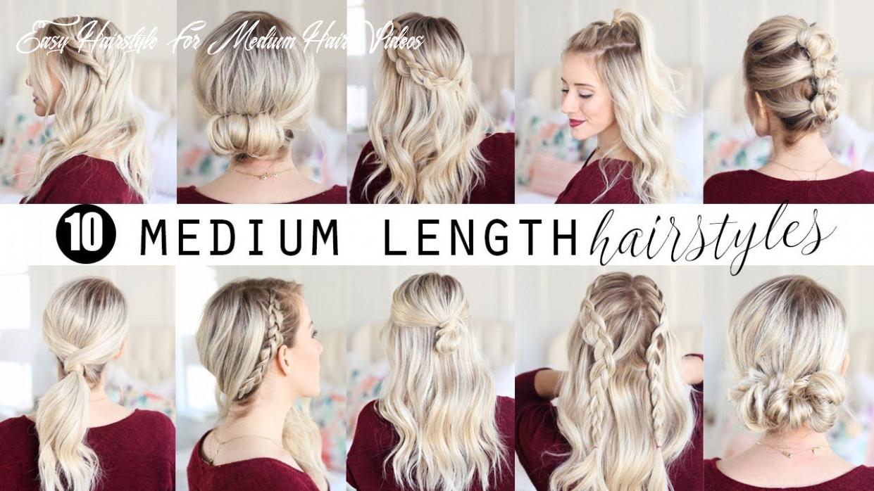 Medium length hairstyle videos easy hairstyle for medium hair videos