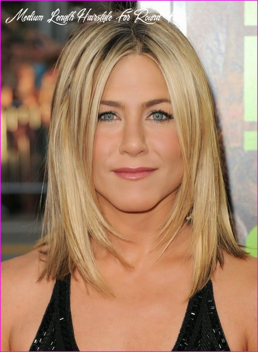 Medium length hairstyles for round faces round faces with bangs