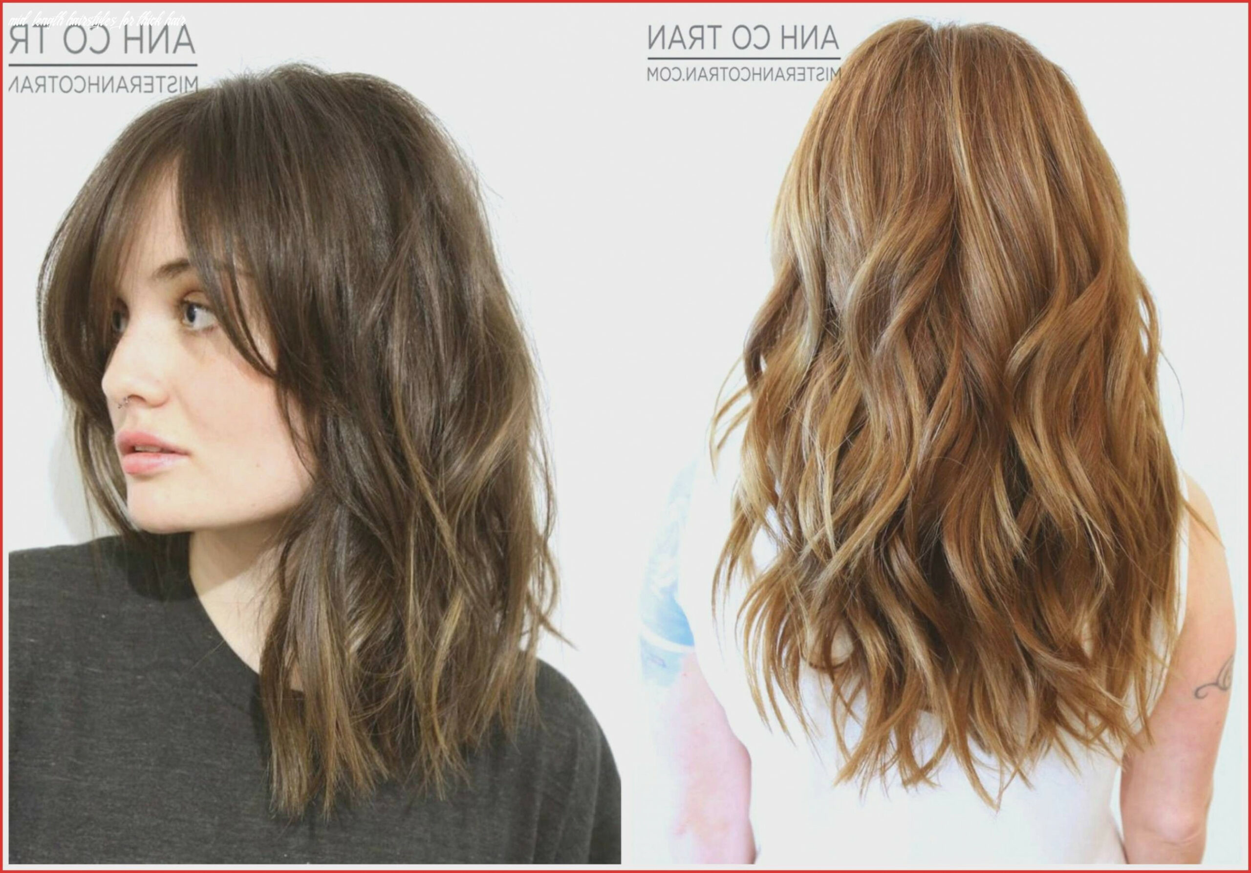 Medium length hairstyles for thick coarse hair new 10 mid length