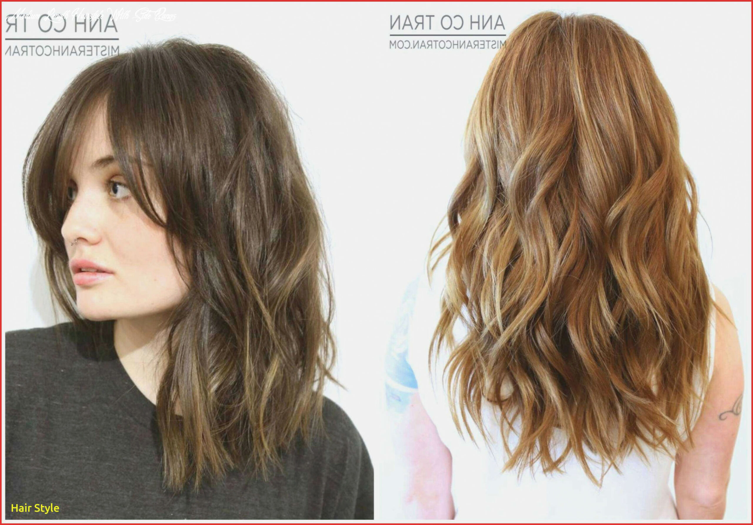 medium length hairstyles with side bangs and layers لم يسبق له ...
