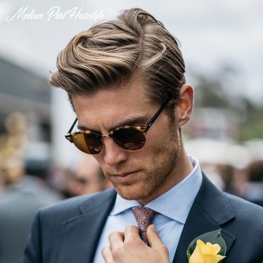 Medium length side part hairstyle for men #newhairstylesformen
