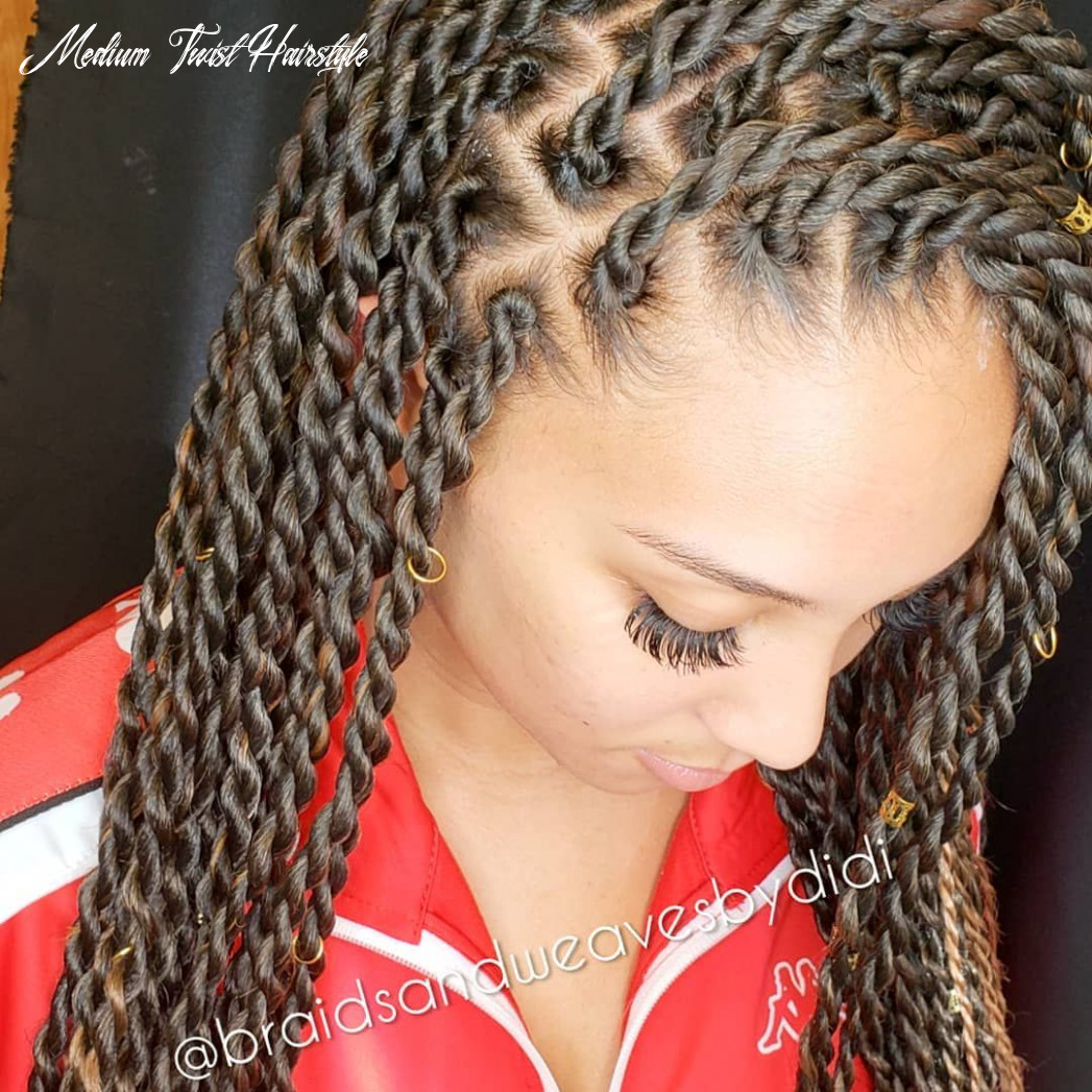 Medium senegalese rope twists knotless method no matter your curl