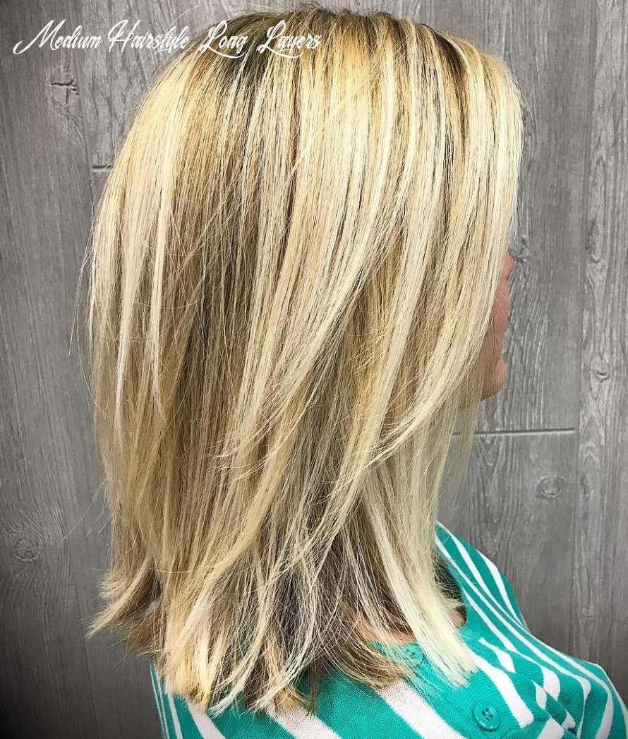 Medium Short Hair With Long Layers