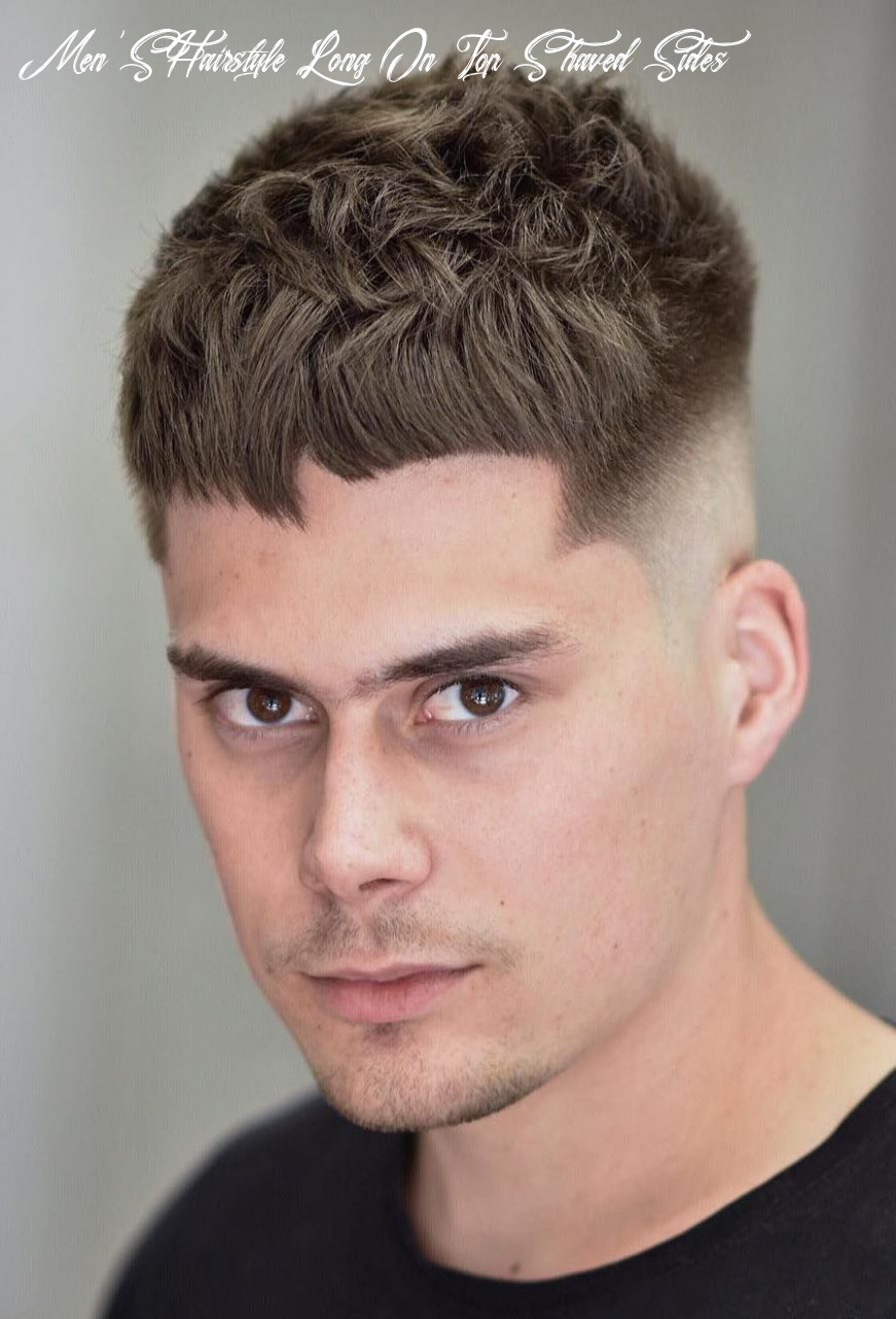 Mens hairstyle long on top shaved sides medium length 12