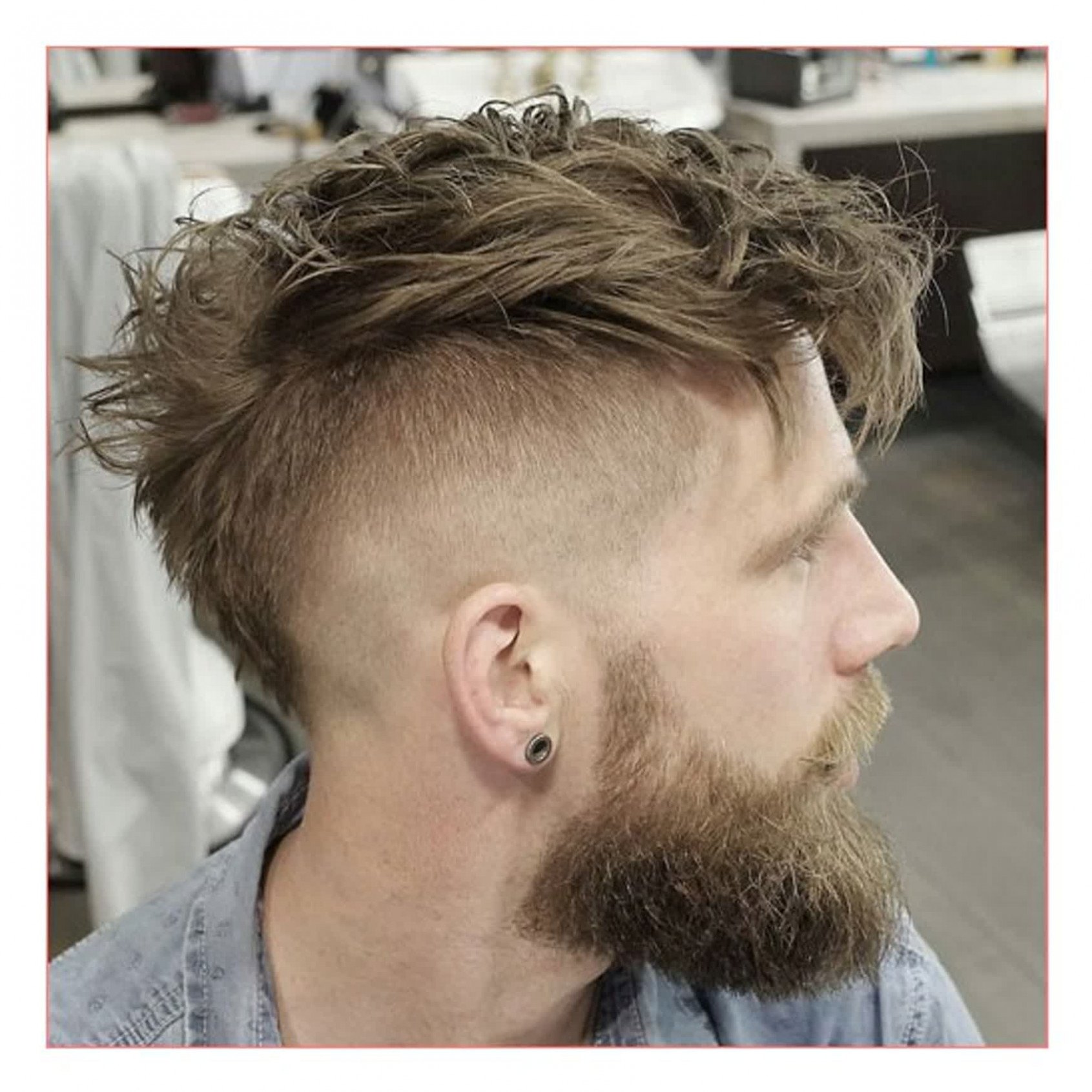 Men hairstyles short sides long top plus undercut with messy faux
