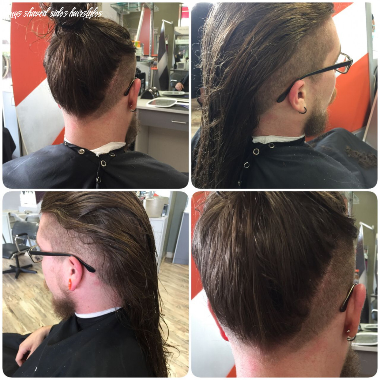 Men long hair layered with shaved sides | long hair styles men