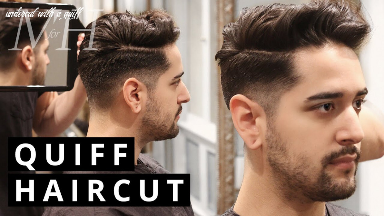 Men's haircut and style | undercut quiff undercut with a quiff