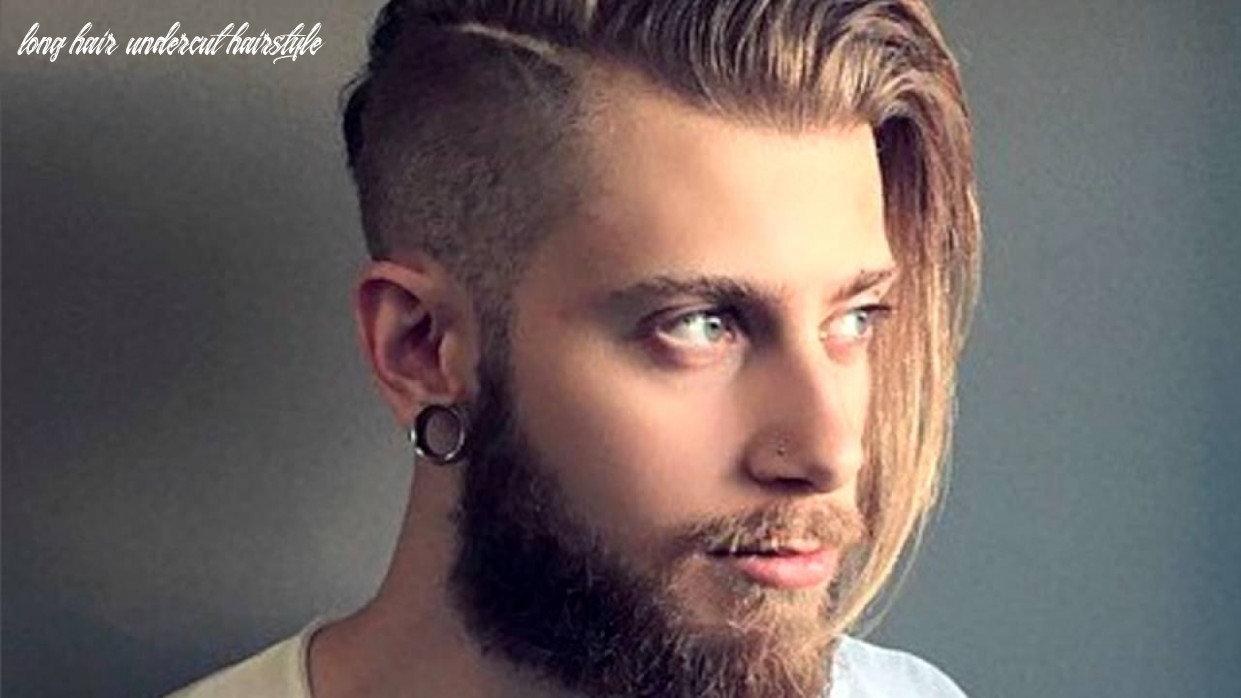 Men's long hair with an undercut long hair undercut hairstyle