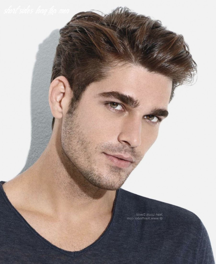 Mens haircut short on sides long on top mens hairstyles short back