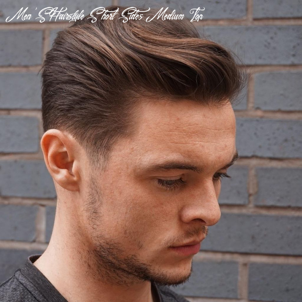 Mens haircuts short sides medium top hair styles on fire latest