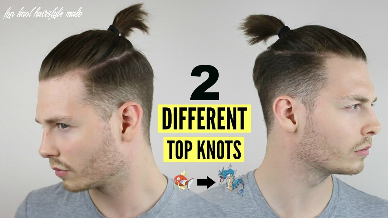 Mens top knot / man bun hairstyle tutorial how to 12 top knot hairstyle male