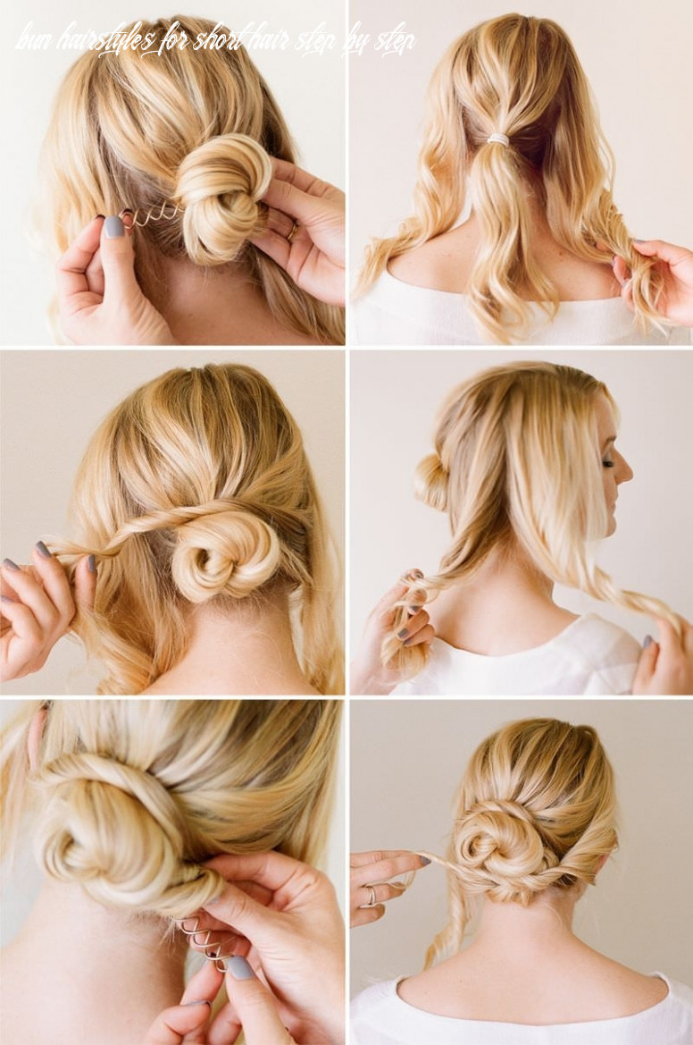 Messy bun hairstyles for short hair step by step deceptive bun