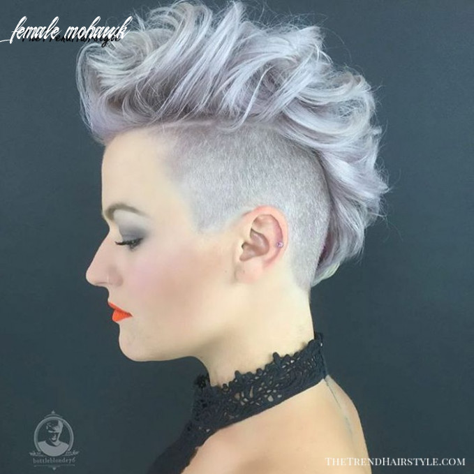 Messy hawk for women 11 most gorgeous mohawk hairstyles of
