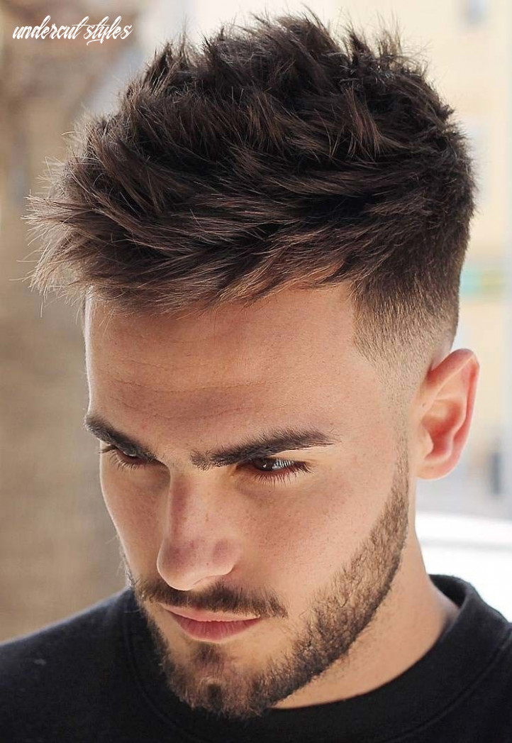 Messy textured undercut stylish undercut hairstyle variations in