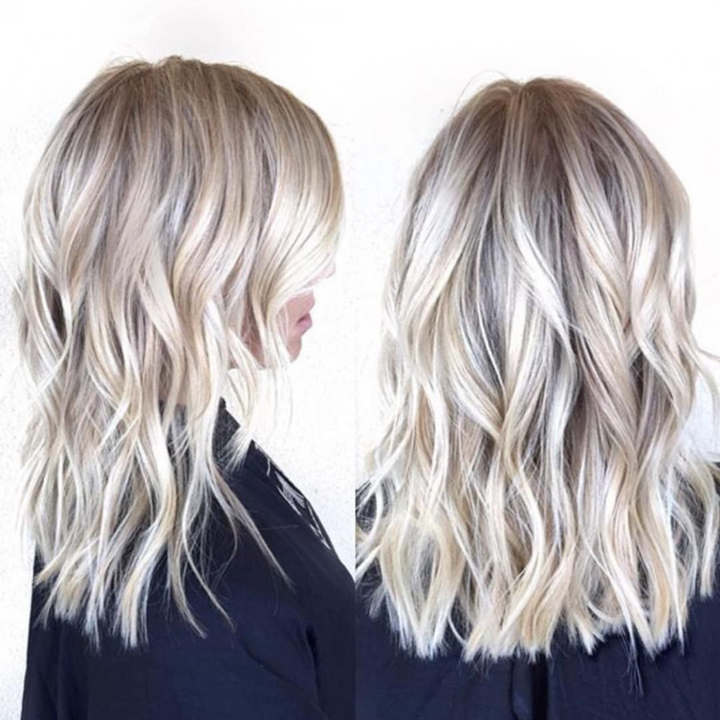 Mid length blonde | @habitsalon | Medium length blonde hair ...