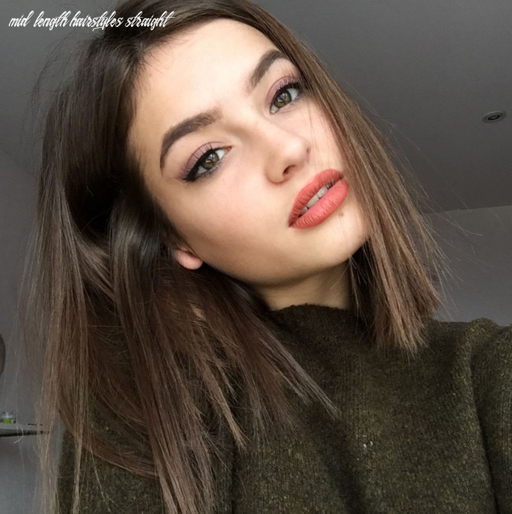 Mid length hairstyle   edgy hair mid length hairstyles straight