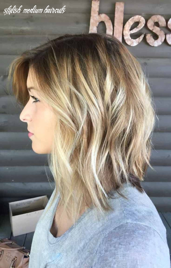 Modern cute medium haircuts are shaggy and uneven get the style