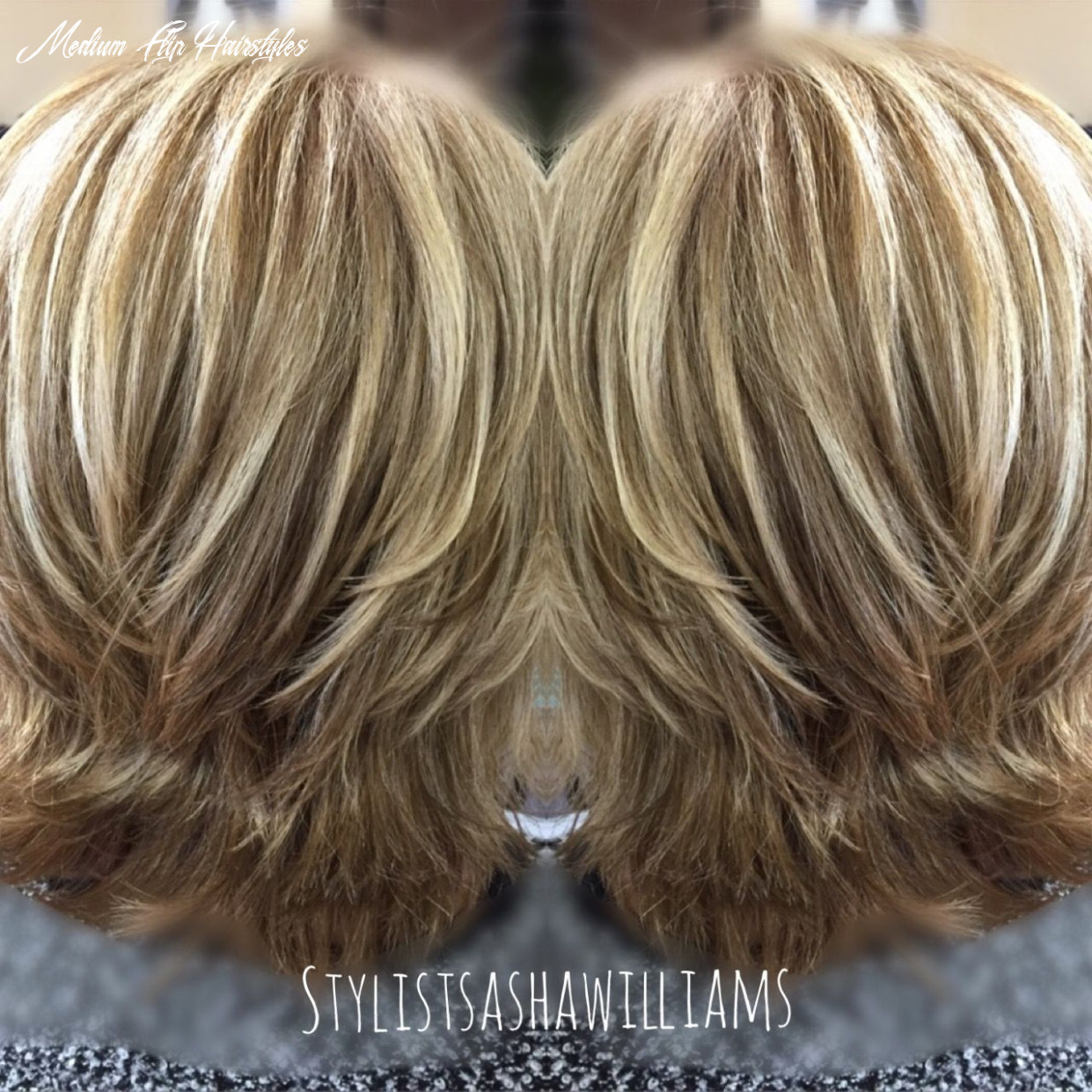 Modern flip hairstyle with blonde highlights very pretty | hair