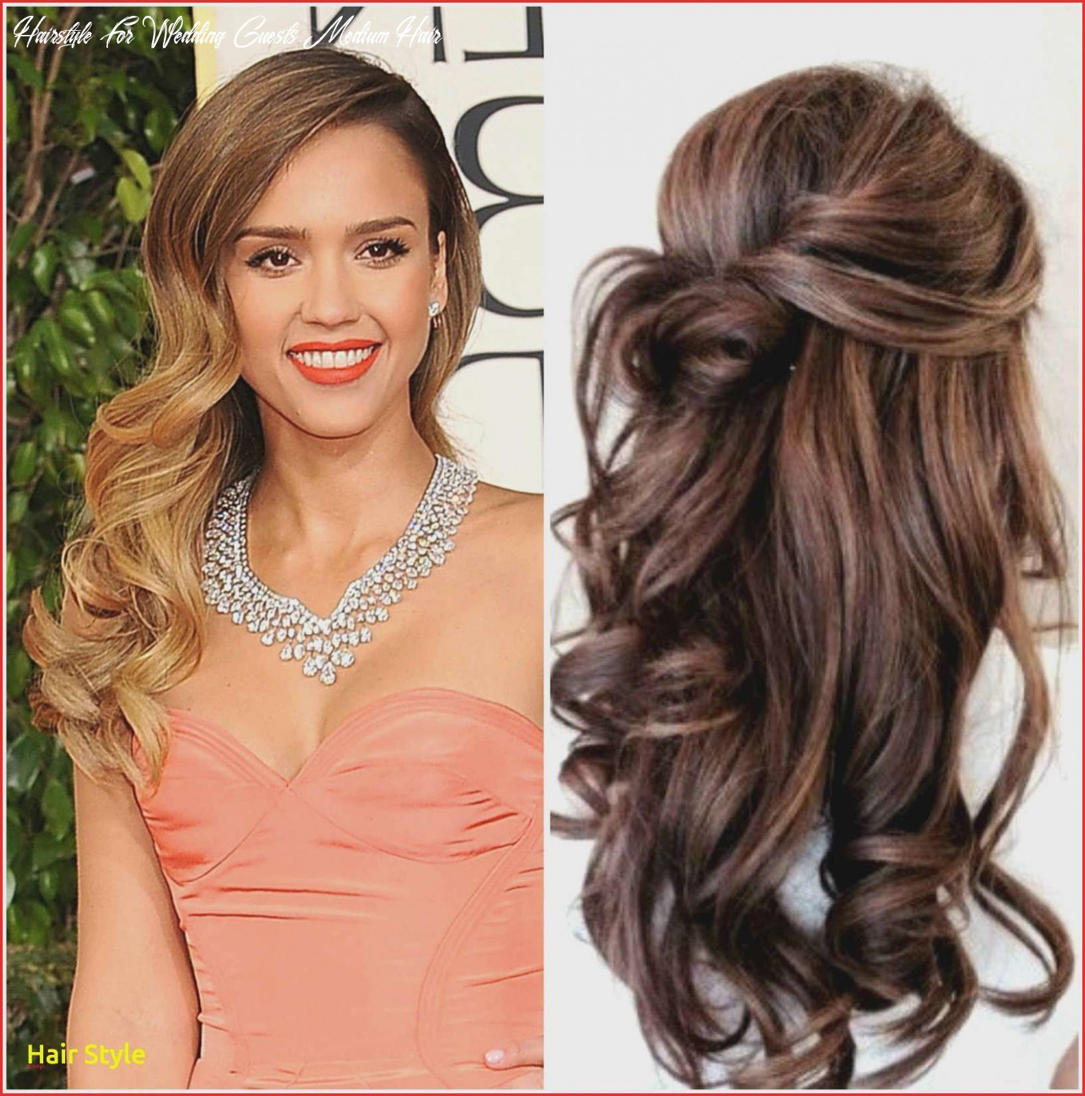 Modern wedding guest hairstyle for long hair best bridal