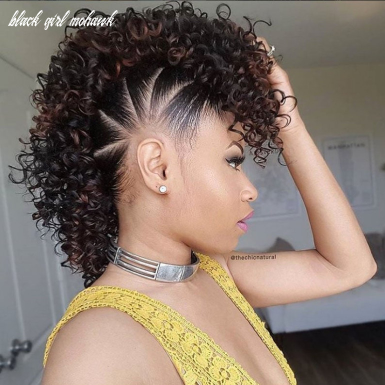 Mohawk hairstyles for natural hair essence black girl mohawk