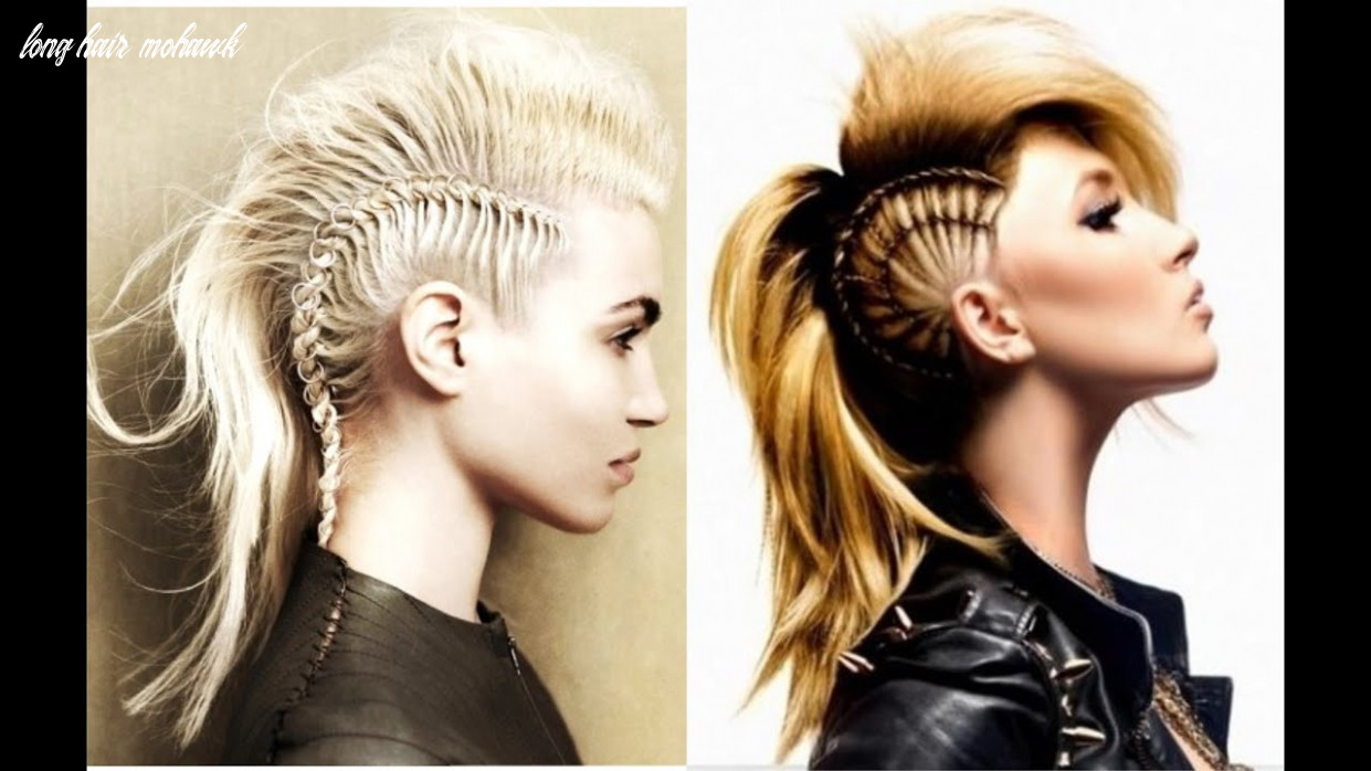 Mohawk hairstyles for women with long hair youtube long hair mohawk