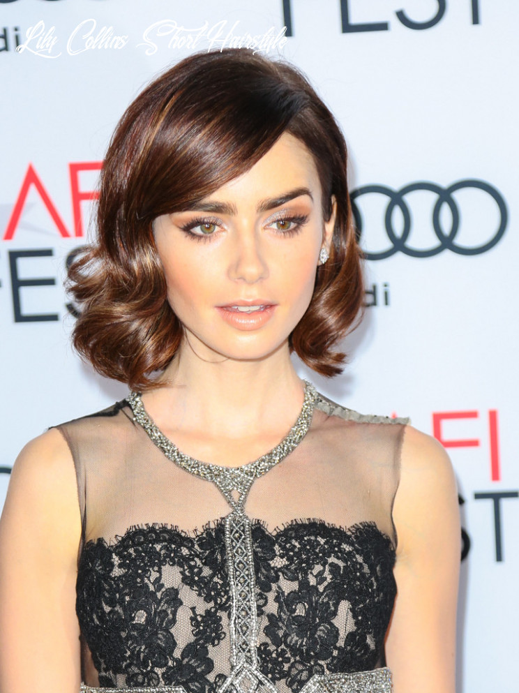 More pics of lily collins short curls (9 of 9) short hairstyles